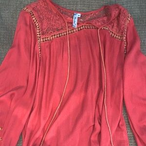 andree coral blouse